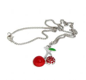 Cherry Fruit Fashion Pendants Necklace